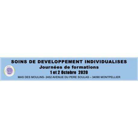 Soins de développement individualisés - SDI - du 1 et 2 octobre 2020